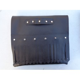 BLACK VINTAGE BAG WITH FRINGES