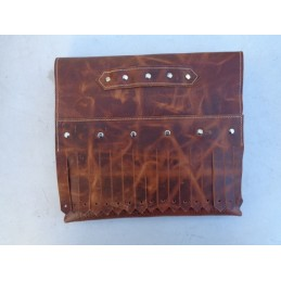 VINTAGE BROWN BAG WITH FRINGES