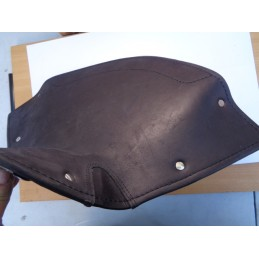 BLACK LEATHER SADDLE COVER...