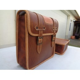 VINTAGE LEATHER SADDLEBAGS...